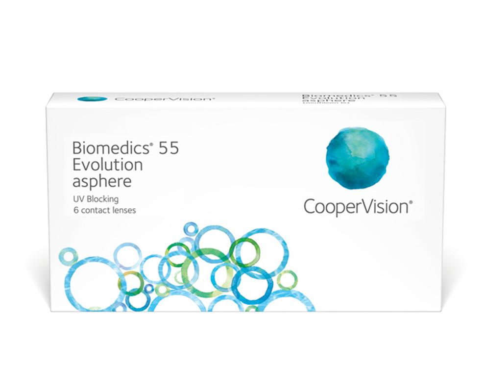 CooperVision Biomedics® 55 Evolution contact lenses