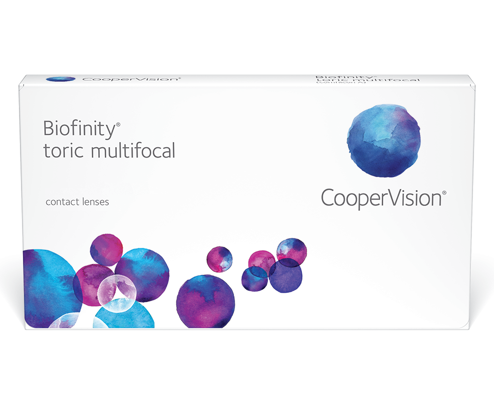 CooperVision Biofinity® toric multifocal contact lenses