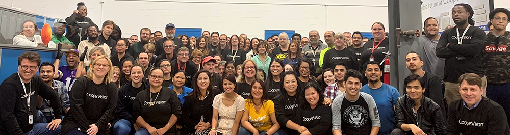 CooperVision employees at a company event